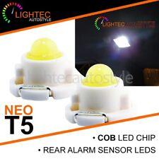2x SEAT LEON MK1 WHITE T5 LED REAR INTERIOR READING LIGHT NEO WEDGE BULBS T4.7