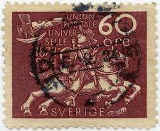 SWEDEN 1924 UPU 60 ore FINE USED SG171 CAT VALUE 47 POUNDS