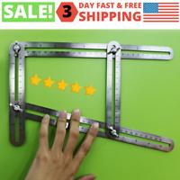 Premium Metal Angleizer Multi Angle Stainless Steel Measuring Ruler Templat Tool