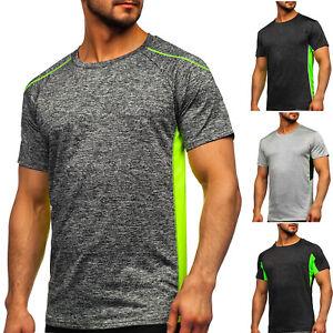 T-Shirt Tee Rundhals Kurzarm Sportshirt Classic Slim Fit Herren Mix BOLF Motiv