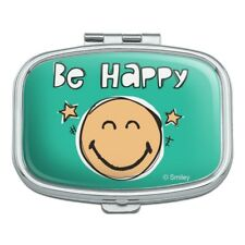 Be Happy Smiley Face with Stars Officially Licensed Rectangle Pill Case Box