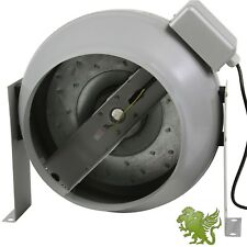"""Hydroponics 8"""" Flange InLine Circular Duct Exhaust Fan by iHidro"""