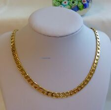 24K gold plated/filled men curb chain necklace 55cm(22inches), 6mm