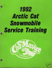 1992 ARCTIC CAT SNOWMOBILE TRAINING SERVICE MANUAL
