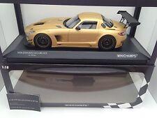 "Minichamps 1:18 Mercedes-Benz SLS AMG GT3 ""Street"" 2011 oro Muy Rara!"