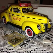 1940 COCA-COLA SALESMAN CAR FORD DELUXE COUPE DANBURY MINT 1:24 WITH DISPLAY