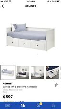 IKEA Hemnes Day Bed With 3 Draws / 2 Mattresses