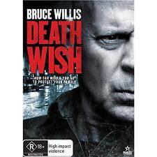 DEATH WISH DVD, NEW & SEALED, REGION 4, 2018 RELEASE FREE POST