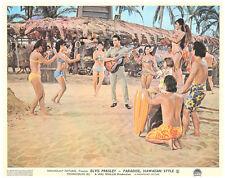 PARADISE HAWAIIAN STYLE ORIGINAL LOBBY CARD ELVIS PRESLEY ON GUITAR BEACH BIKINI