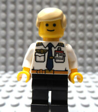LEGO  Airline Pilot White Top with Wings & ID Badge Blond Hair