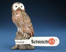 SCHLEICH 14238 - Waldkauz + Fähnchen - Tawny Owl - Waldtier Schleichtier Eule 2