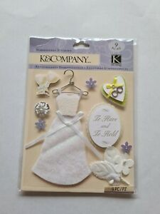 K&COMPANY DIMENSIONAL STICKERS 'CLASSIC WEDDING' BNIP *LOOK* SMALL PACK