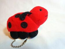 Ladybug Key Chain Zipper Pull Red Black Plush Bean Bag Princess Soft Toys