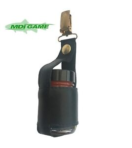 MDI Leather Dry Shake Holder for Fly Fishing (Fits Mucilin Hour Glass Bottle)