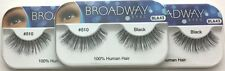 NEW LOT OF 3 BROADWAY EYES BLA43 100% HUMAN HAIR BLACK STRIP #510 EYELASHES