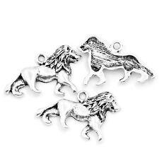 "HELLO 30 Charm Pendants lion Animal Silver  26mmx17mm(1""x5/8"")"