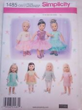 "Simplicity Sewing Pattern #1485 - 18"" Doll Clothes"