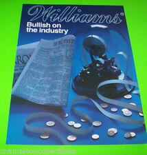 MOON PATROL ROBOTRON By WILLIAMS 1983 ORIGINAL VIDEO ARCADE GAME FLYER BROCHURE
