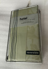 Hotel Living 5 Star Lux 500Tc 100%Cotton Sateen King Pillow Sham Reversible Aloe