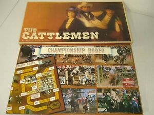2 Vintage Western Board Games -The Cattle Men - a Western Strategy Game : Champi