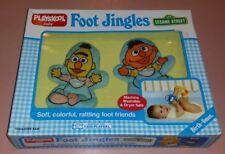 Rare Playskool Foot Jingles Bert & Ernie Infant Baby Rattle Set Sesame Street