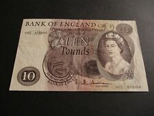 More details for b299 -  bank of england £10 pound note - j.q.hollom -  a02 859954