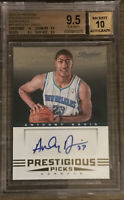 2012-13 Panini Prestige Anthony Davis Rookie Auto BGS 9.5 All 9.5 and 10 Subs RC