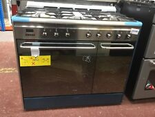 *Smeg CG92PX9 90cm Dual Fuel Range Cooker - Stainless Steel - A/A Rated #142500