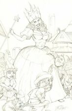 Good Witch of the North Wizard of Oz Pencil Commission art by Shelby Robertson