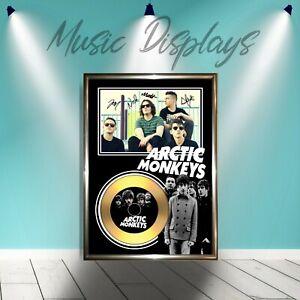 Arctic Monkeys - Signed Framed Gold Vinyl Cd Photo Display