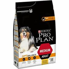 Purina Pro Plan Dry Food for Adult Medium with Optibalance, Pack of 4 x 3kg