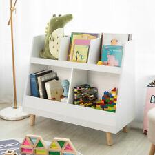 SoBuy Children Kids Bookcase Playroom Shelf Storage Display Organizer KMB19-W,UK