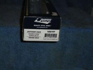 RAPIDO HO SCALE #100197 DELAWARE & HUDSON LIGHTWEIGHT COACH SCHROON LAKE #33