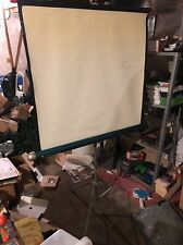"1960s Vintage Radiant  Projector Screen 30"" x 40"" Tripod Photo Background"