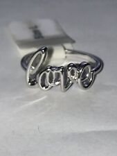 925 Silver Love Ring Size L