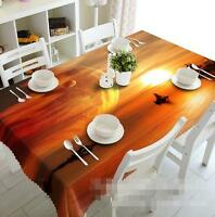 3D Planet Sunset Tablecloth Table Cover Cloth Birthday Party Event AJ WALLPAPER