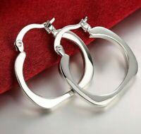 Smooth Sleepers Hinged .925 Silver Hoop Earrings Studex Sensitive 18GA 3/8 Inch