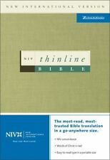 NIV Thinline Bible Zondervan Leather Bound Book Good