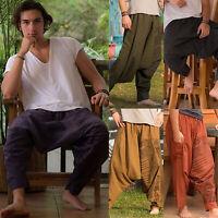Men's Boho Harem Trousers Alibaba Gypsy Casual Hippie Aladdin Loose Fit Pants
