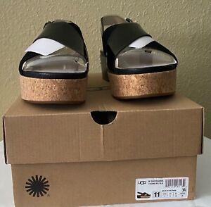 NIB UGG Women's SHOSHANA 1102669 Platform Sandals, size 11, Black