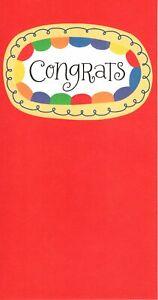 Congratulations Graduation Cash Gift Money Holder Graduate Hallmark Card