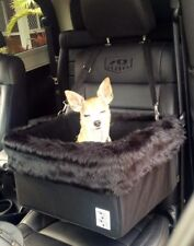 """Large Black Dog Car Booster Seat (""""Black Fox"""" black lining) - Dogs Out Doing *"""