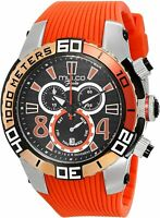 Mulco Men's Fondo Wheel MW1-74197-065 46mm Black Dial Silicone Chronograph Watch
