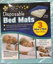 Lot de 3 jetable imperméable enfants dormir de lit tapis langer de bébé 60x90 cm