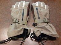 Dakine Mens Size L Large Snow Gloves Cinch Wrist Gore-Tex Tan Brown EXCELLENT CO