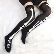 Knee High Halloween Socks Black Skeleton Halloween Sock Gloves Halloween Costume