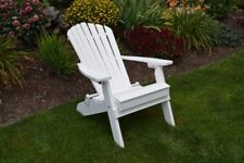 A&L Furniture Amish-Made Folding/Reclining Poly Adirondack Chairs, In 13 Colors!