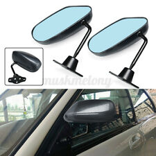 Universal F1 Style Carbon Look Car Racing Door Side Rear View Mirrors Blue Glass