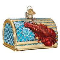 """Lobster Trap"" (44104)X Old World Christmas Glass Ornament w/OWC Box"