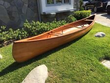 One of a Kind Handcrafted Graham Cedar Wood Strip Canoe